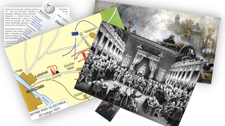 Materiałami w ucznia czyli powstanie 1830